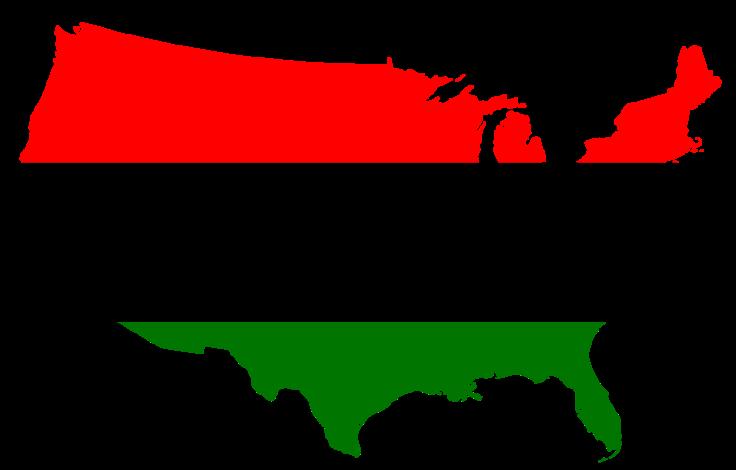 Black America Flag map